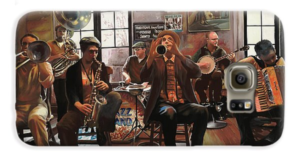 Drums Galaxy S6 Case - Jazz A 7 by Guido Borelli