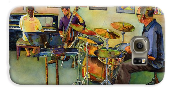 Drums Galaxy S6 Case - Jazz At The Gallery by Hailey E Herrera