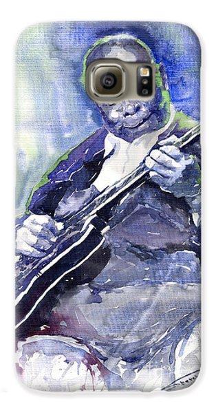 Jazz Galaxy S6 Case - Jazz B B King 02 by Yuriy Shevchuk