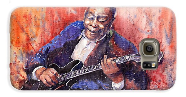 Jazz Galaxy S6 Case - Jazz B B King 06 A by Yuriy Shevchuk