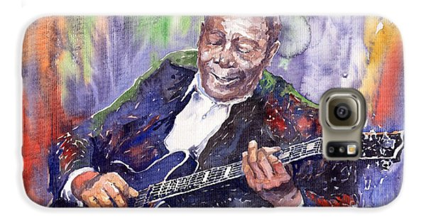 Jazz Galaxy S6 Case - Jazz B B King 06 by Yuriy Shevchuk
