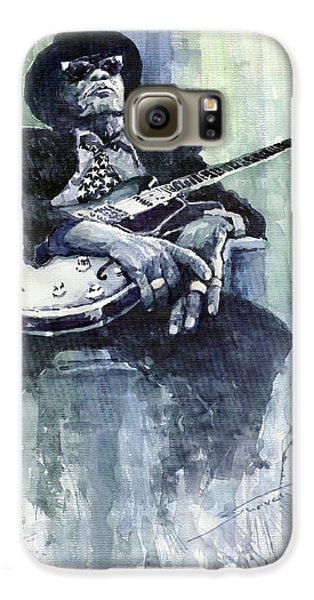 Jazz Galaxy S6 Case - Jazz Bluesman John Lee Hooker 04 by Yuriy Shevchuk