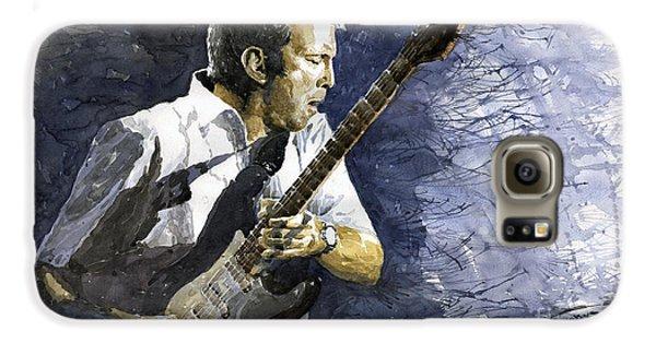 Jazz Eric Clapton 1 Galaxy S6 Case by Yuriy  Shevchuk