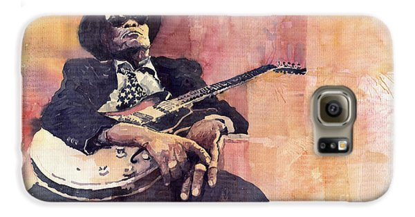 Jazz Galaxy S6 Case - Jazz John Lee Hooker by Yuriy Shevchuk