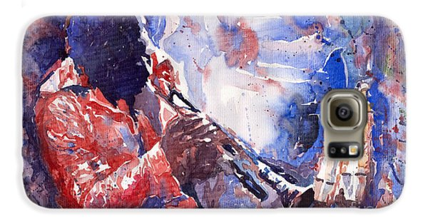 Jazz Galaxy S6 Case - Jazz Miles Davis 15 by Yuriy Shevchuk