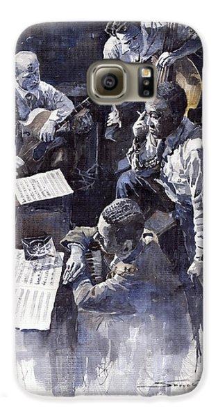 Jazz Galaxy S6 Case - Jazz Parker Tristano Bauer Safransky Rca Studio Ny 1949 by Yuriy Shevchuk