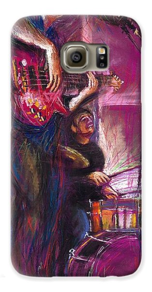 Jazz Galaxy S6 Case - Jazz Purple Duet by Yuriy Shevchuk