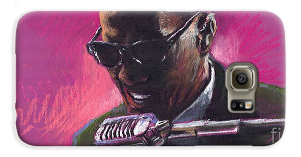 Jazz Galaxy S6 Case - Jazz. Ray Charles.1. by Yuriy Shevchuk