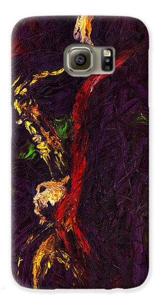 Jazz Galaxy S6 Case - Jazz Red Saxophonist by Yuriy Shevchuk