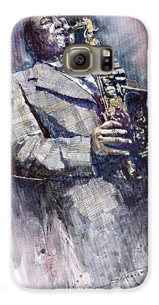 Jazz Galaxy S6 Case - Jazz Saxophonist Charlie Parker by Yuriy Shevchuk