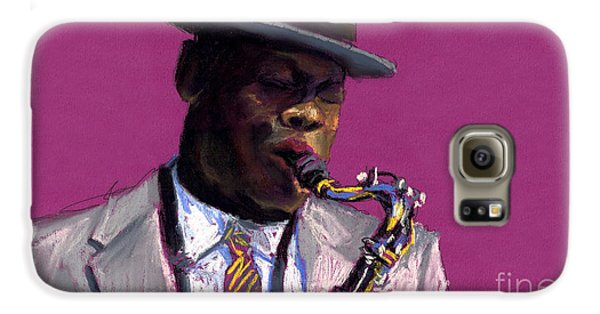 Jazz Galaxy S6 Case - Jazz Saxophonist by Yuriy Shevchuk