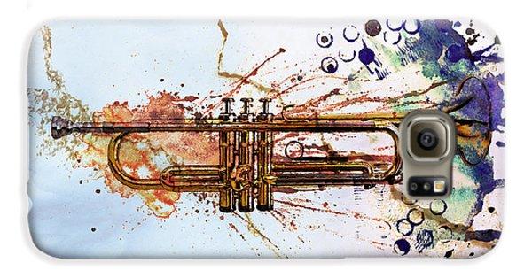 Music Galaxy S6 Case - Jazz Trumpet by David Ridley