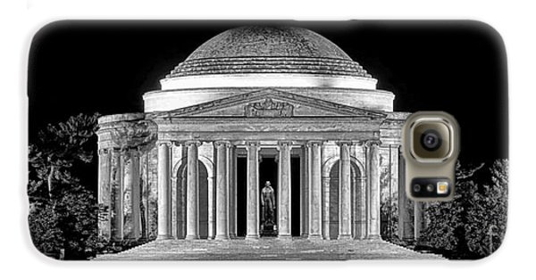 Jefferson Memorial Lonely Night Galaxy S6 Case by Olivier Le Queinec