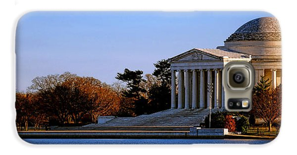 Jefferson Memorial Sunset Galaxy S6 Case by Olivier Le Queinec