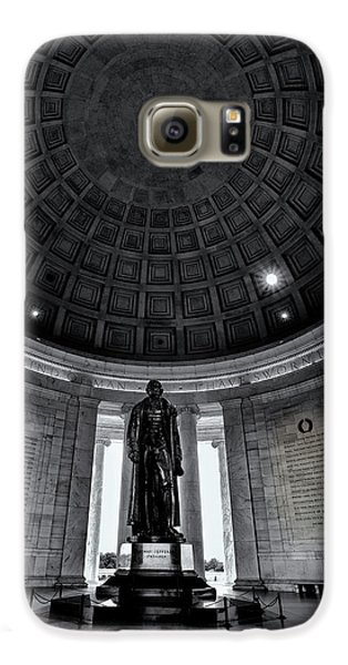 Jefferson Statue In The Memorial Galaxy S6 Case by Andrew Soundarajan