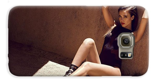 Jessica Alba Galaxy S6 Case - Jessica Alba by Emma Brown