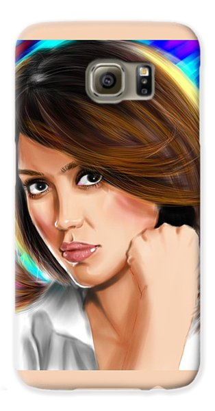 Jessica Alba Galaxy S6 Case by Isaac Martinez