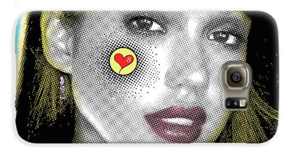 Jessica Alba Pop Art, Portrait, Contemporary Art On Canvas, Famous Celebrities Galaxy S6 Case by Dr Eight Love