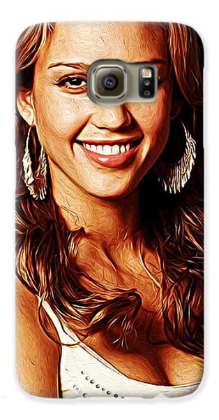 Jessica Alba Galaxy S6 Case by Iguanna Espinosa