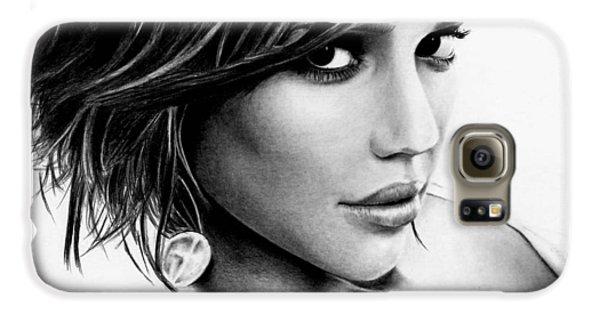 Jessica Alba Galaxy S6 Case - Jessica Alba  by Rick Fortson