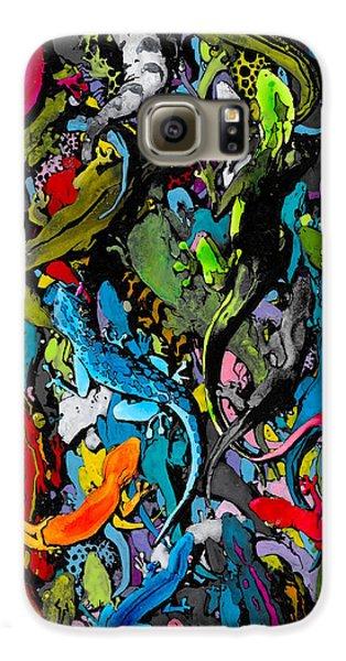 Salamanders Galaxy S6 Case - Jewels Of The Demon City Swarm by Zak Smith