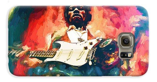 Voodoo Galaxy S6 Case - Jimi Hendrix  by Louis Ferreira