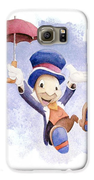 Jiminy Cricket With Umbrella Galaxy S6 Case by Andrew Fling