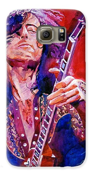 Jimmy Page Galaxy S6 Case by David Lloyd Glover