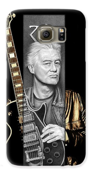 Jimmy Page Galaxy S6 Case - Jimmy Page Drawing by Jeffrey St Romain