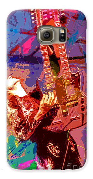 Led Zeppelin Galaxy S6 Case - Jimmy Page Stairway To Heaven by David Lloyd Glover