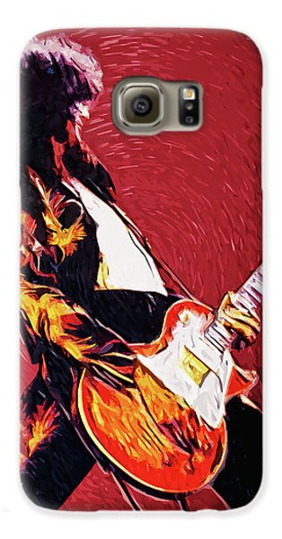 Led Zeppelin Galaxy S6 Case - Jimmy Page  by Taylan Apukovska