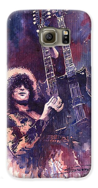 Jimmy Page  Galaxy S6 Case by Yuriy  Shevchuk