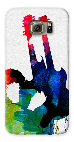 Led Zeppelin Galaxy S6 Case - Jimmy Watercolor by Naxart Studio