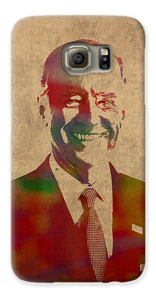 Joe Biden Watercolor Portrait Galaxy S6 Case by Design Turnpike