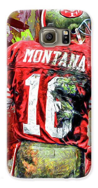 Joe Montana Football Digital Fantasy Painting San Francisco 49ers Galaxy S6 Case by David Haskett