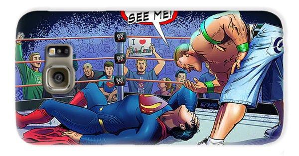 John Cena Vs Superman Galaxy S6 Case by Khaled Alsabouni