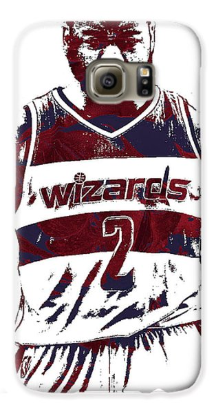 Wizard Galaxy S6 Case - John Wall Washington Wizards Pixel Art 5 by Joe Hamilton