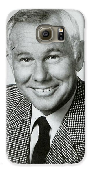 Johnny Carson Autographed Print Galaxy S6 Case