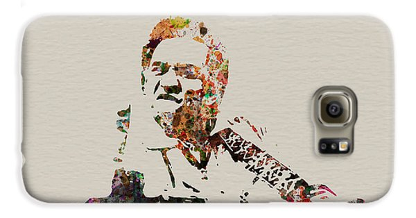 Johnny Cash Galaxy S6 Case by Naxart Studio