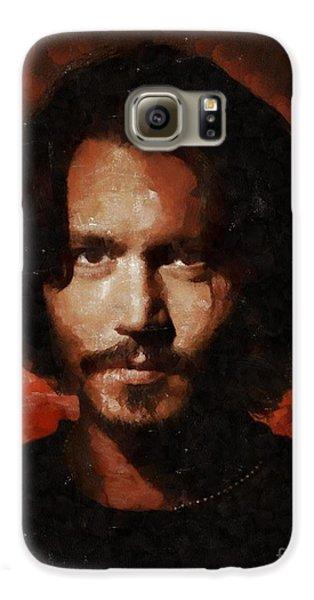 Johnny Depp, Hollywood Legend By Mary Bassett Galaxy S6 Case by Mary Bassett