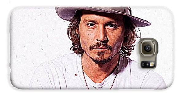 Johnny Depp Galaxy S6 Case by Iguanna Espinosa