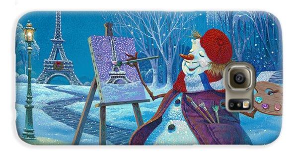 Eiffel Tower Galaxy S6 Case - Joyeux Noel by Michael Humphries
