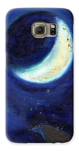 July Moon Galaxy S6 Case by Nancy Moniz