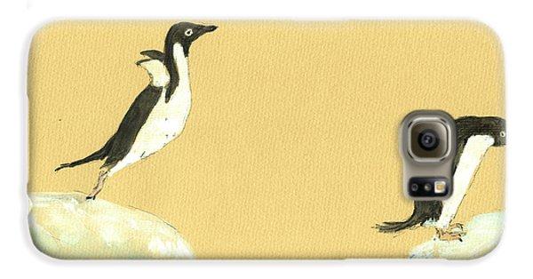 Penguin Galaxy S6 Case - Jumping Penguins by Juan  Bosco