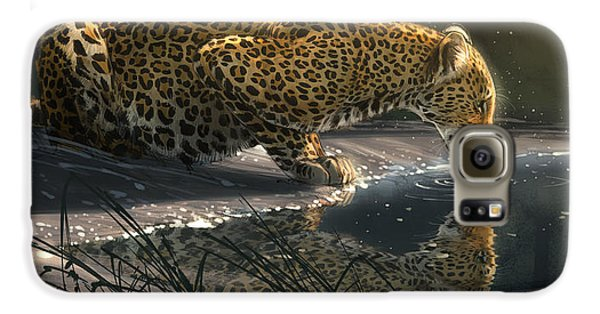 Leopard Galaxy S6 Case - Just A Sip by Aaron Blaise