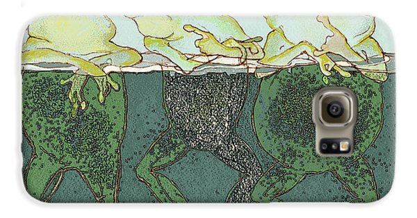 Amphibians Galaxy S6 Case - Just Hanging by Peggy Wilson