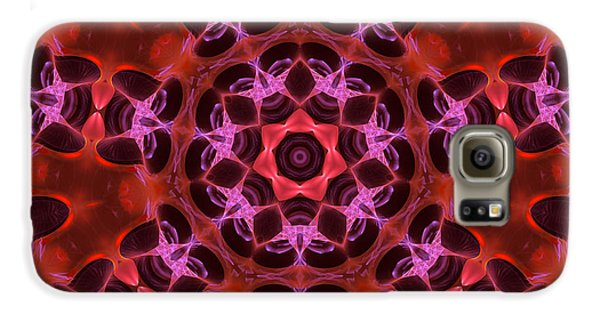Kaleidoscope With Seven Petals Galaxy S6 Case