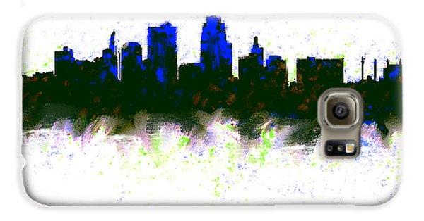 Kansas City Skyline Blue  Galaxy S6 Case by Enki Art