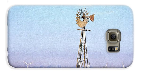 Galaxy S6 Case featuring the digital art Kansas Windmills by JC Findley