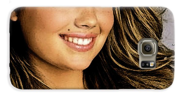 Jessica Alba Galaxy S6 Case - Kate Upton by Thomas Pollart